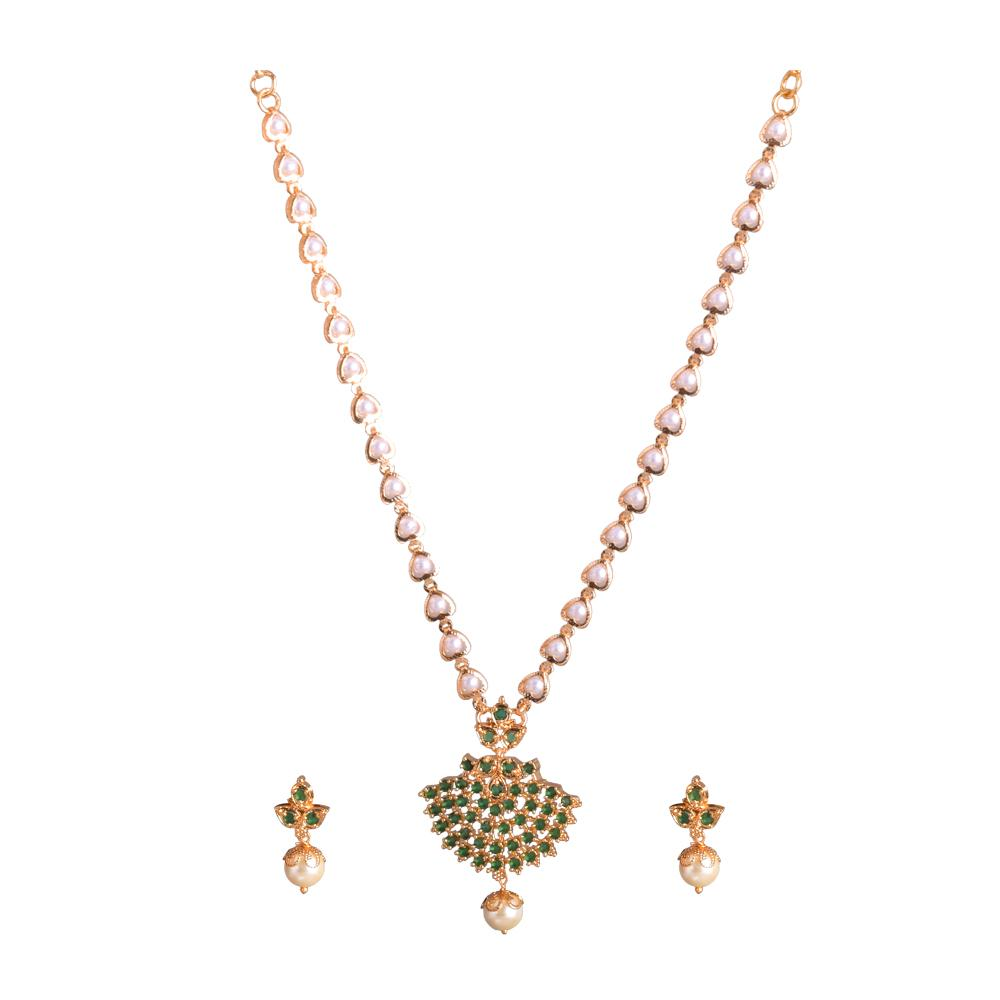 Pearl patterned necklace set