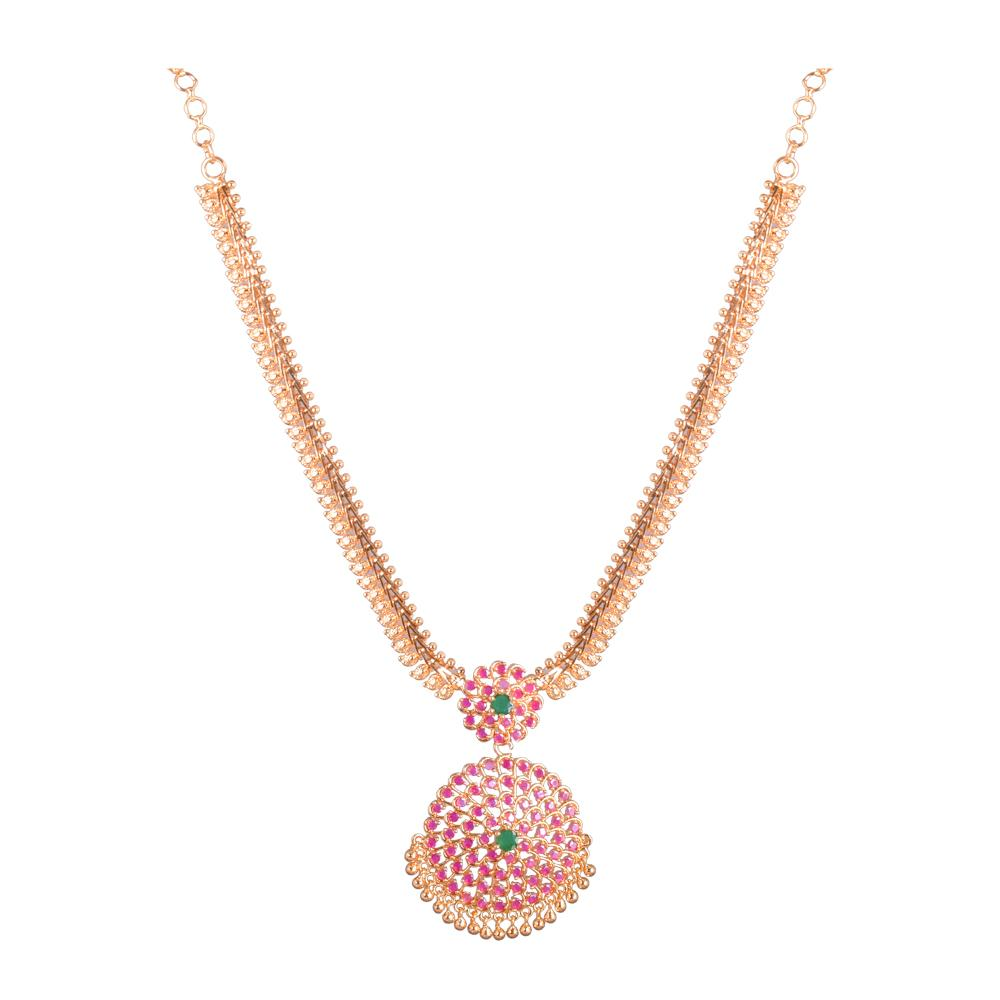 Gold platted Ruby necklace