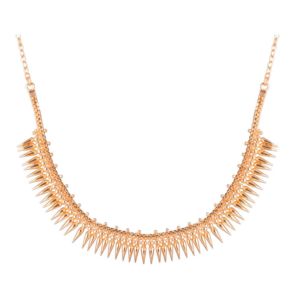 Gold platted mullai necklace