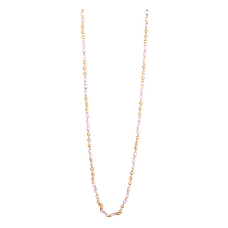 Gold and pearl long chain