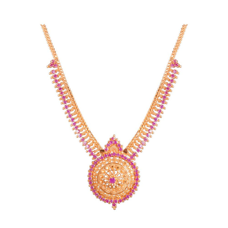 Ruby Gold Platted Necklace