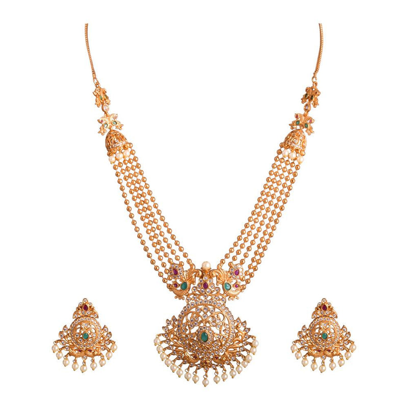 Layered Gold platted Temple Jewellery