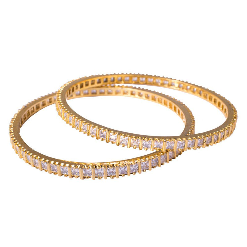 Gold Plated American Diamond Bangles