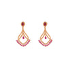 Pink Colour American Diamond Earrings