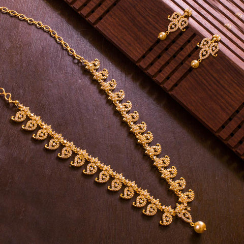 Bright American Diamond Necklace Set