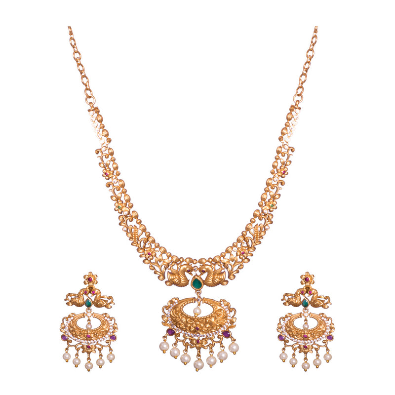 Glam gold plated necklace