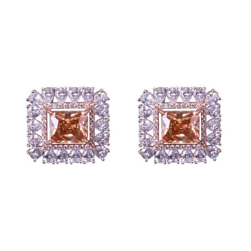 Classy And Bright Square Earrings