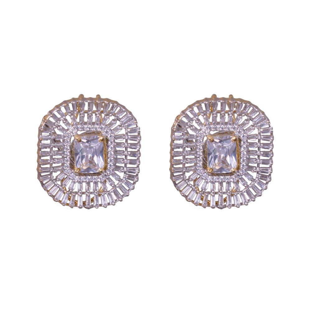American Diamond Clad Earrings
