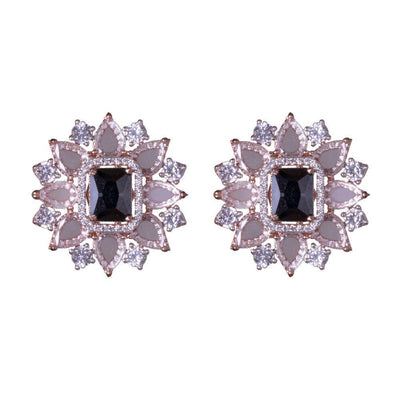 American Diamond Emerald Stone Earrings