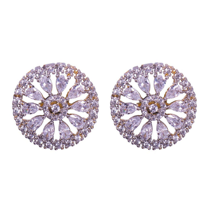 Wheel of diamond earrings