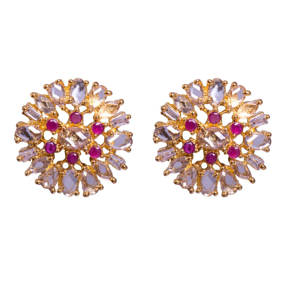 Ruby tinted earrings