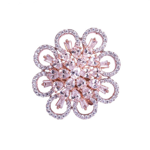 American Diamond Blooms Style Finger Ring