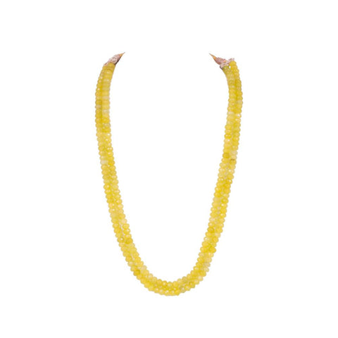Layered yellow  beaded necklace