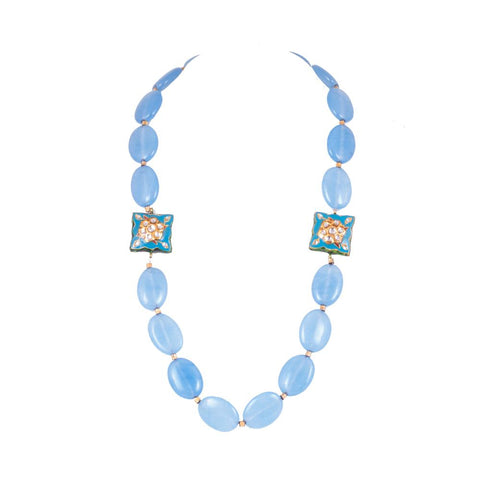 Suntle and royal blue necklace