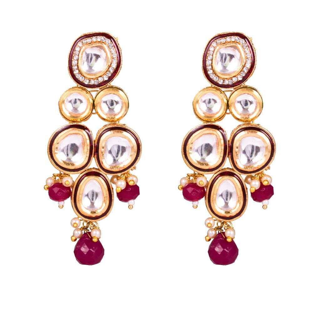 Party Wear Elegant Kundan Earrings