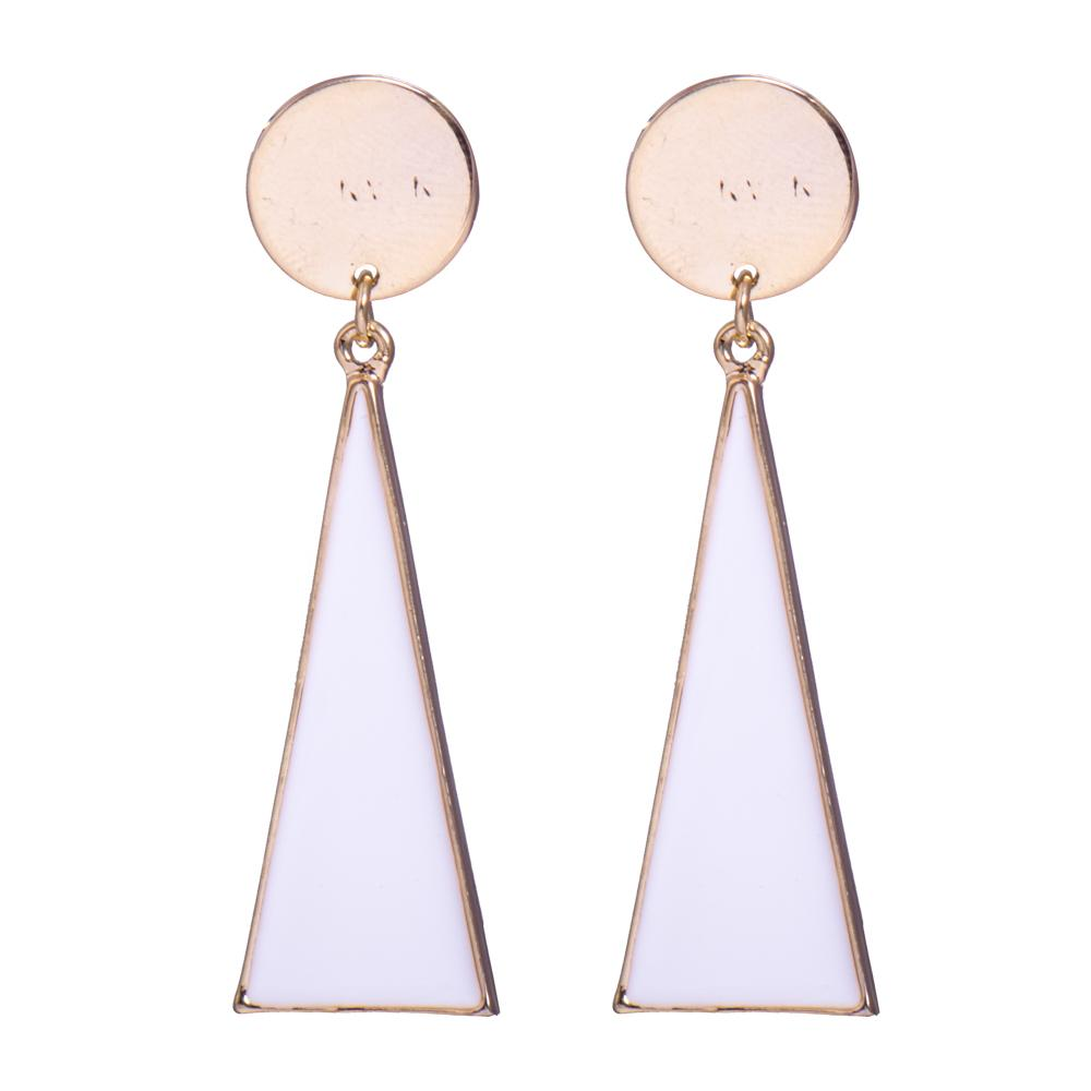 Geometric metallic pastel earrings