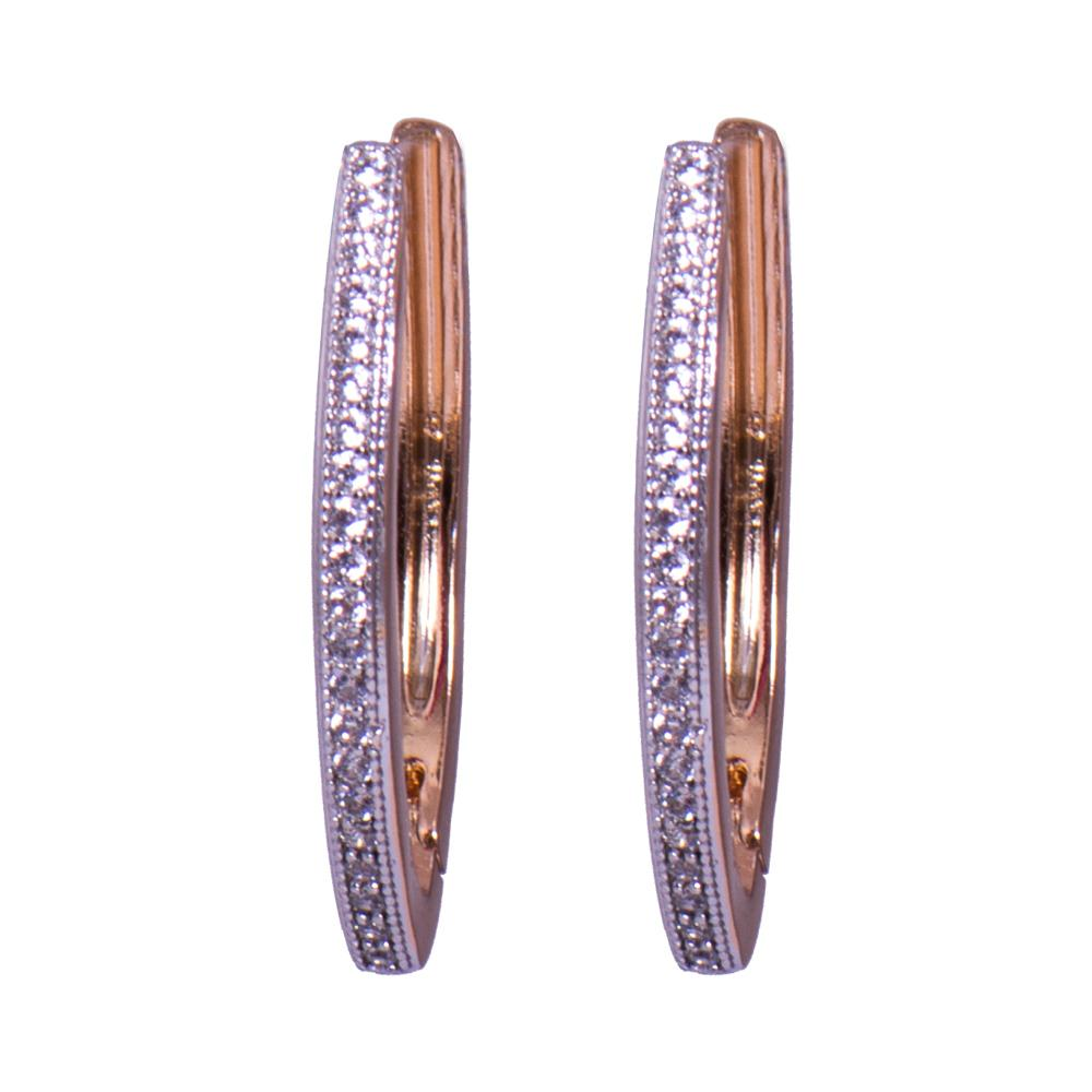 American diamond loop earrings