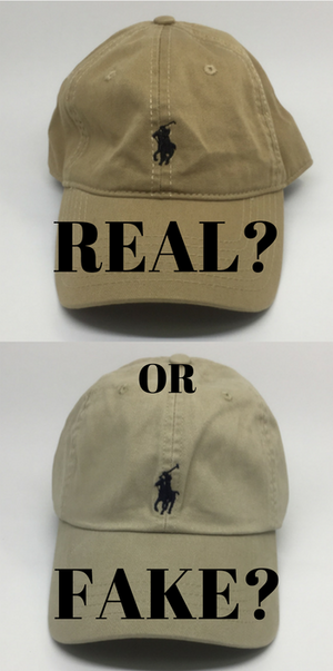 Spotting fake Ralph Lauren caps