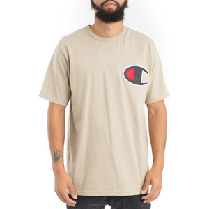 Champion Heritage Large Applique Logo T Shirt Khaki