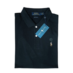 Polo Ralph Lauren Polo Shirt Black Custom Slim Fit