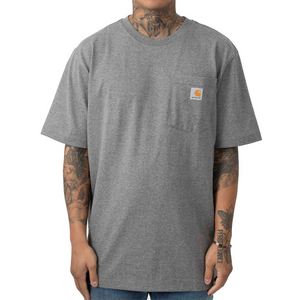 Carhartt C Logo Workwear Pocket T-Shirt Granite Heather