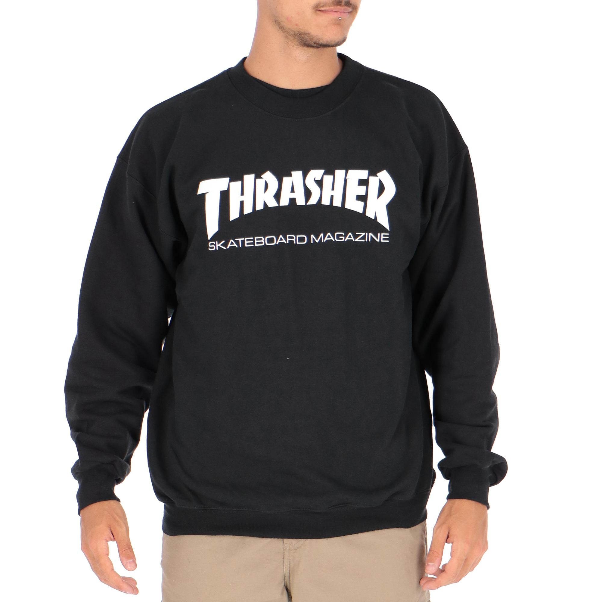 c8cb0cbcb2e3 Thrasher Skate Mag Fleece Crewneck Sweater Black