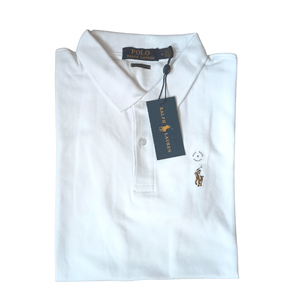 Polo Ralph Lauren Polo Shirt White Custom Slim Fit