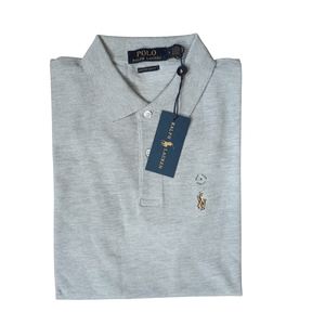 Polo Ralph Lauren Polo Shirt Grey Custom Slim Fit