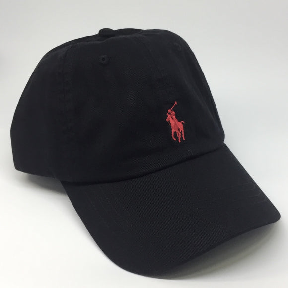 Polo Ralph Lauren Baseball Cap Black with Red Pony