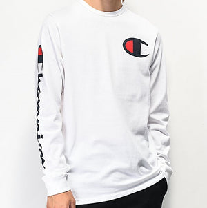 Champion Life® Heritage Big C Long Sleeve White