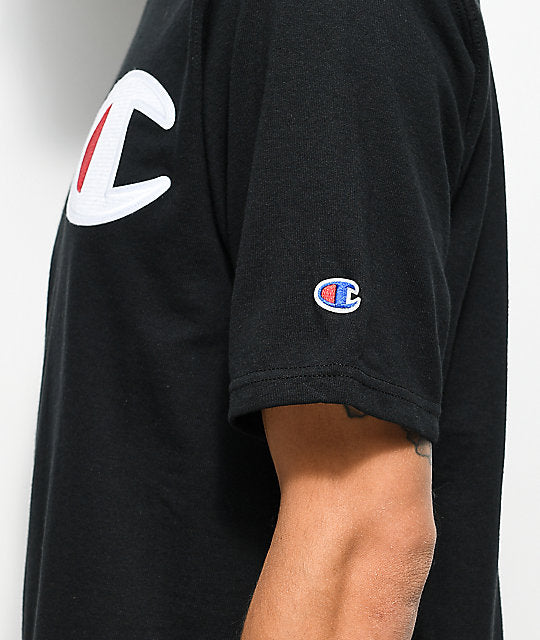 Champion Heritage Tee C, Applique Logo Black