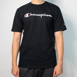 Champion Life® Heritage Small Script Logo Embroidered T-Shirt Black