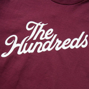 The Hundreds Forever Forever Slant Logo T-Shirt Burgundy