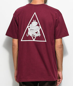 HUF Ambush Triangle T Shirt Maroon
