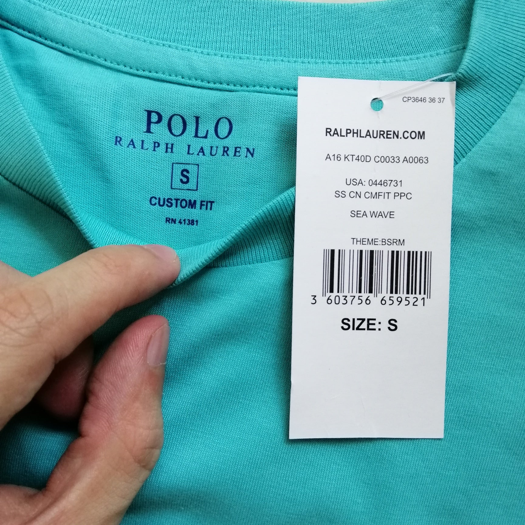 4116bf186 Polo Ralph Lauren T-Shirt Custom Fit Sea Wave - Style Up