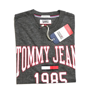 Tommy Hilfiger Jeans Collegiate Logo T Shirt Dark Grey