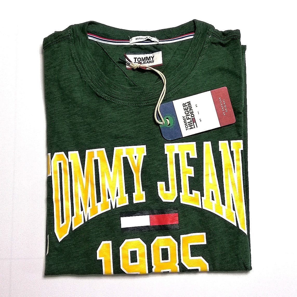 a1c20ca2 Tommy Hilfiger Jeans Collegiate Logo T Shirt Green - Style Up