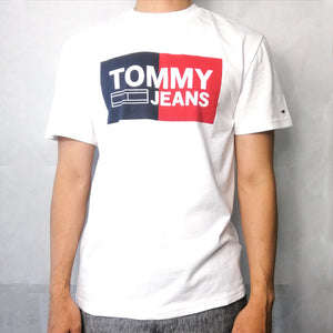 Tommy Hilfiger Jeans Collegiate Logo T Shirt Heather Grey