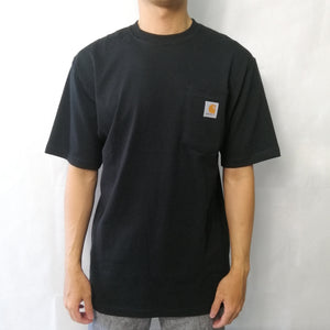 Carhartt Signature Logo T Shirt Black