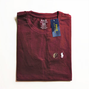 Polo Ralph Lauren T-Shirt Custom Fit Maroon