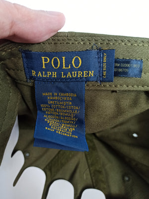Polo Ralph Lauren Baseball Cap Olive with Red Pony