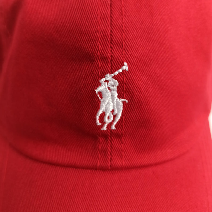 Polo Ralph Lauren Baseball Cap Red with White Pony