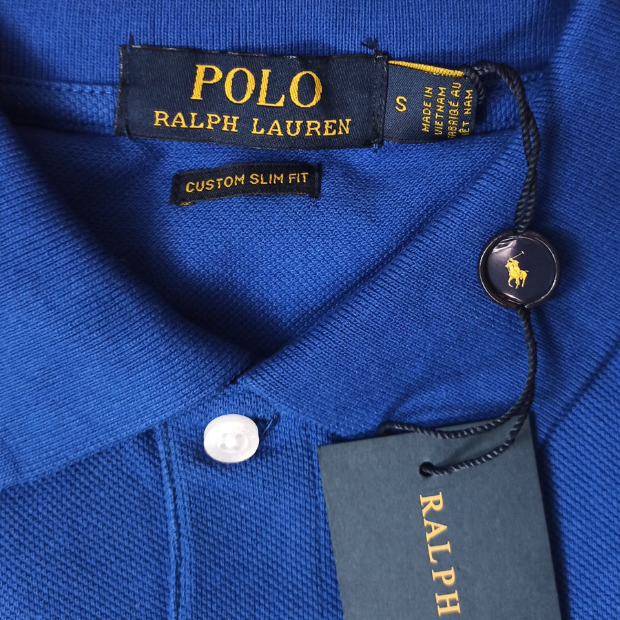 Polo Ralph Lauren Polo Shirt Royal Blue Custom Slim Fit