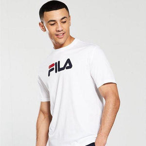 Fila White Line T-Shirt with Large Logo