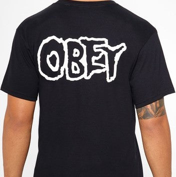 Obey x Misfits Fiends Skull T-Shirt Black