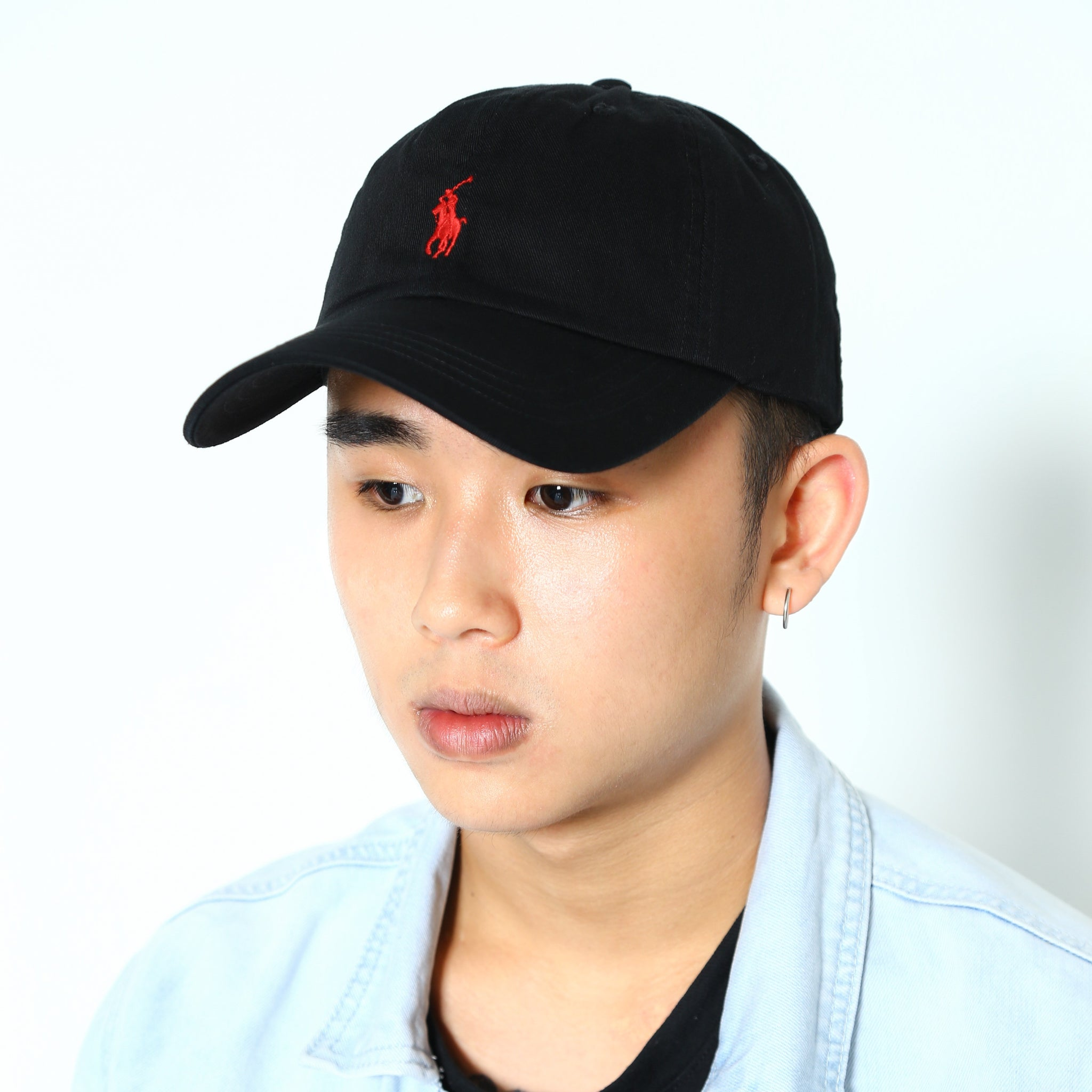 Polo Ralph Lauren Baseball Cap Black with Red Pony - Style Up 3a9125a4bee