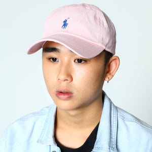 Polo Ralph Lauren Baseball Cap Pink with Navy Pony