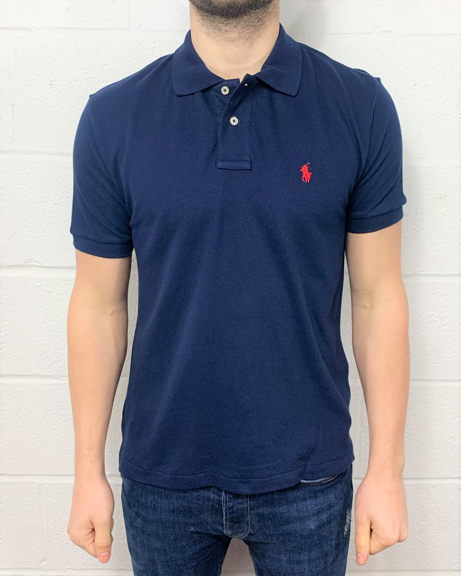 Polo Ralph Lauren Polo Shirt Navy Custom Fit