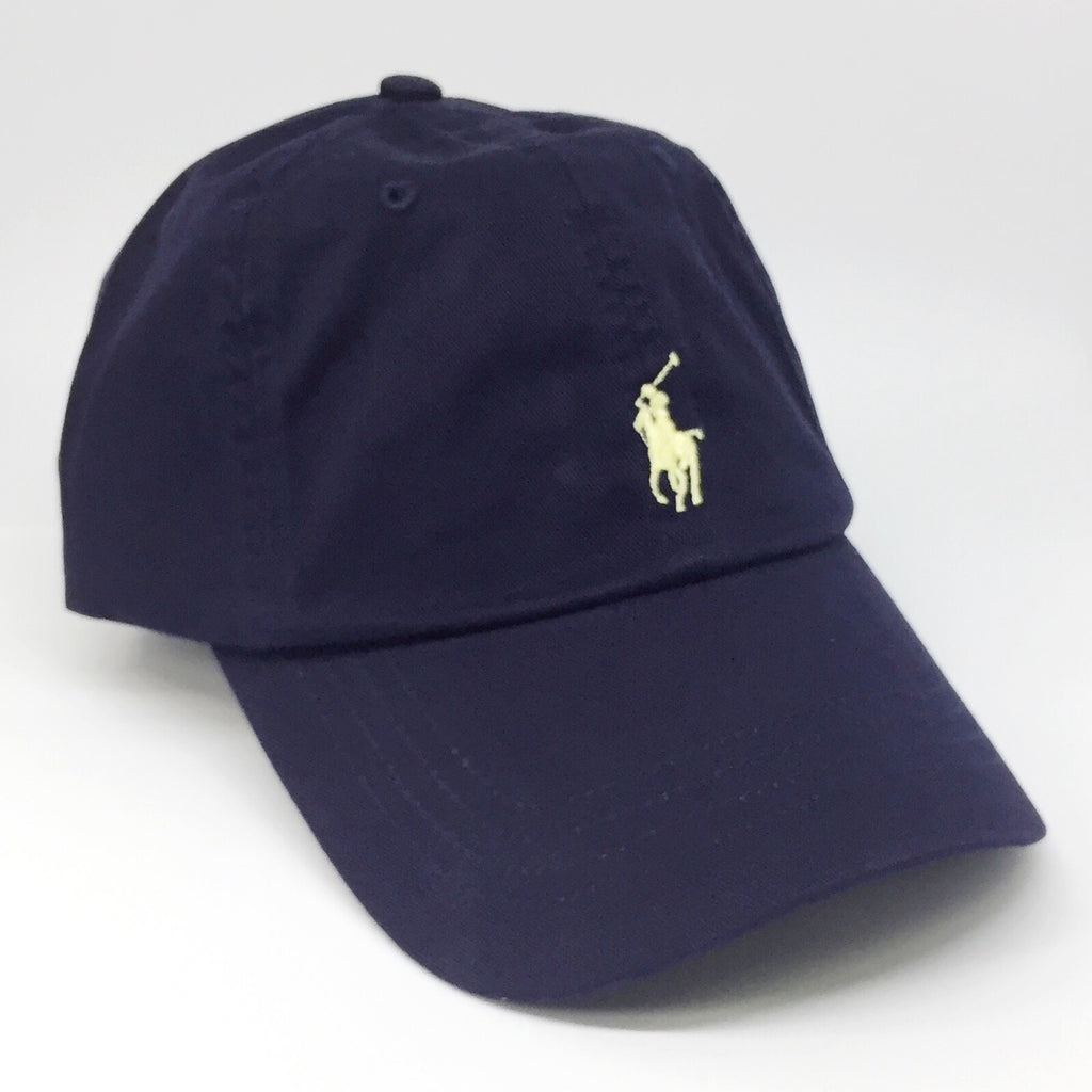 Polo Ralph Lauren Baseball Cap Navy with Yellow Pony