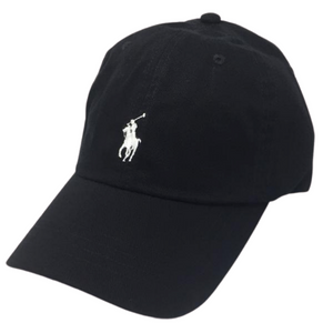 Polo Ralph Lauren Baseball Cap Black with White Pony